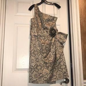 Kay Unger one shoulder dress